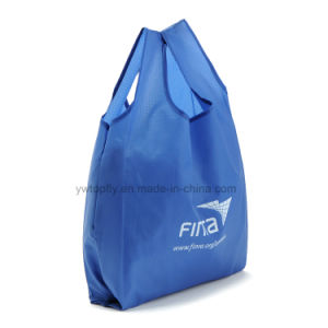 Polyester Reusable Promotional Gifts Custom Printed Foldable Grocery Shopping Bag pictures & photos