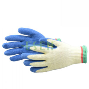 Nitrile Half Coated/Dipped Cotton Work Safety Gloves, Garden Gloves pictures & photos