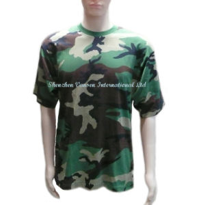 Wholesale Cheap Unisex Camo T Shirt with Crew Neck pictures & photos