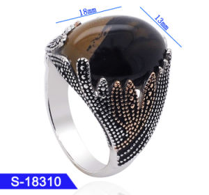 New Design Islamic Jewelry 925 Sterling Silver Gemstone Mens Finger Rings for Hotsale pictures & photos