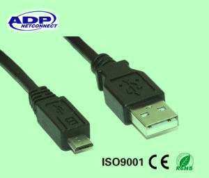 5 Pin 2.0 Printer Cable USB 2.0 Am/Bm USB Data Cable pictures & photos