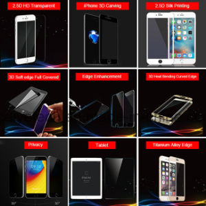 Mobile Accessories Titanium Alloy Edge Tempered Glass Screen Protector for iPhone 7/7 Plus pictures & photos