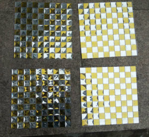 Gold Mix Silver Mosaic Tile, Mirror Mosaic (HD092) pictures & photos