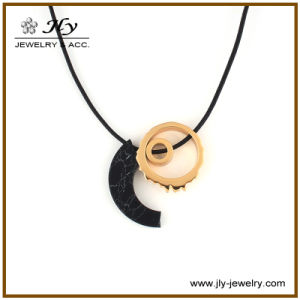 Wholesale Zinc Alloy Gold Plating Resin Fittings Long PU Cord Fashion Jewelry Pendant pictures & photos