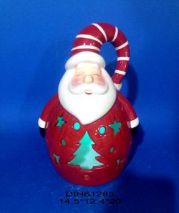 Color-Changing LED Lighted Ceramic Santa Claus pictures & photos