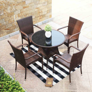 Modern Wicker Restaurant / Coffee Shop Tables and Chairs Outdoor Rattan Furniture (Z348) pictures & photos