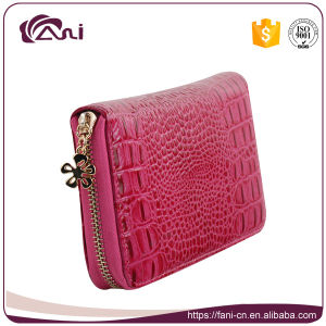 Credit Card Crocodile Wallets, Fashion Leather Cowhide Wallet for Women pictures & photos