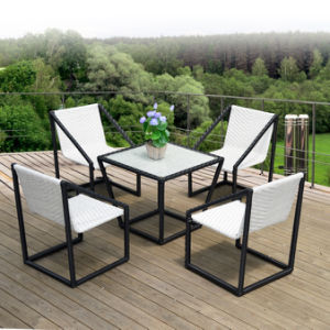 Outdoor PE Rattan / Wicker Square Coffee Shop Tables and Chairs (Z393) pictures & photos