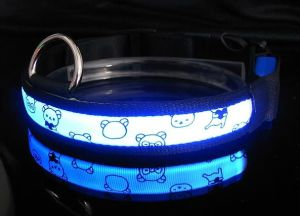 LED Polyster Pet Dog Puppy Collar (LC1004) pictures & photos