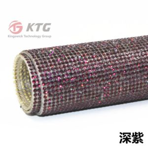 Wholesale Glass Rhinestone Sticker Adhesive Sheet 24*40cm for Lady Shoe Upper pictures & photos