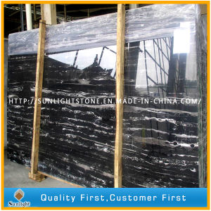 Polished Black and White Silver Dragon Marble for Flooring/Wall Tiles pictures & photos