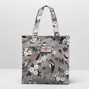 Birds Pattern Grey PVC Canvas Shopping Bag (9923-25) pictures & photos