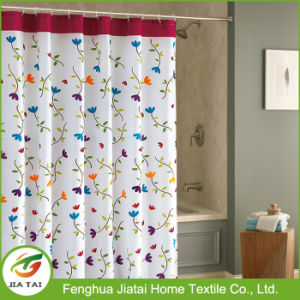 Custom Waterproof Mildew Free Printed Polyester Shower Curtain pictures & photos