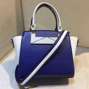 Hot Sale Color-Collision Satchel Hand Bag Women Stylish Snake Skin Pattern Handbags Sy8018 pictures & photos