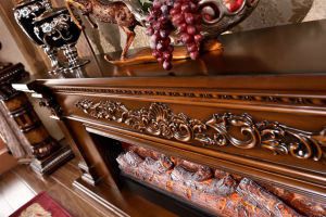 European Wood Furniture Heater Electric Fireplace with Ce Certificate (328S) pictures & photos