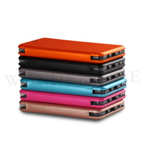 New Coming Shell Kickstand PU Leather Phone Case for iPhone 7/7 Plus pictures & photos