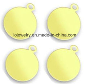 18k Gold Plated Round Tags Custom Size pictures & photos