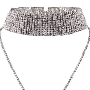 Fashion Luxury Glittering Full Rhinestone Multi Layer Diamond Choker Necklace Jewelry pictures & photos