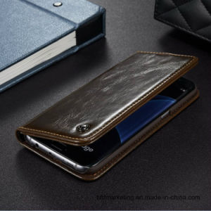 Luxury Premium Quality Leather Cell Phone Case for Samsung pictures & photos