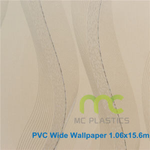 PVC Wallpaper for Home Decoration, Deep Embossed PVC Wallpaper 1.06X15.6m pictures & photos