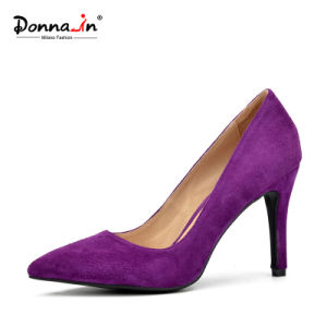 Lady Pointed-Toe High Heels Pumps Women Suede Leather Dress Shoes pictures & photos