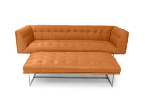 Edward Leather Sofa with Ottoman pictures & photos