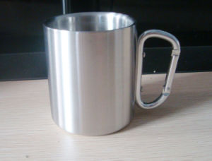 220ml Outdoor Camping Travelling Single Wall Cup with Mountaineering Buckle pictures & photos
