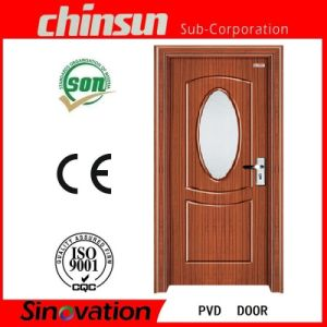 PVC Coated Wood Door with Glass (SV-P024) pictures & photos