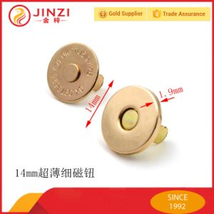 14mm Super Thin Metal Stong Magnetic Button for Bags pictures & photos