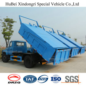 8cbm 9cbm 10cbm Dongfeng Euro IV Hydraulic Automated Loading Garbage Compactor Truck pictures & photos