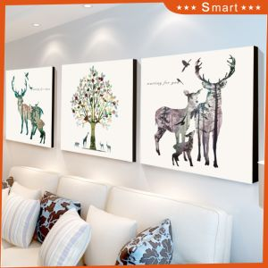 Elk Digital Print Canvas Frame Wall Pictures Art for Living Room pictures & photos