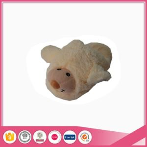 Soft Fleece Ivory Plush Lady Indoor Animal Slipper pictures & photos
