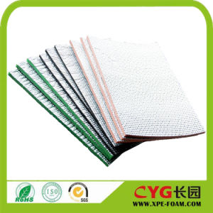 Foam Insulation PE Foam Backed Aluminum Foil and Adhesive Heat Insulation Material Supplier pictures & photos