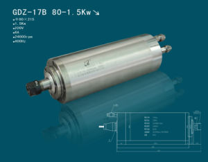 1.5kw 80mm 220V/380V Water Cooling Spindle Motor 4 Bearings for CNC Machine (GDZ-17B)