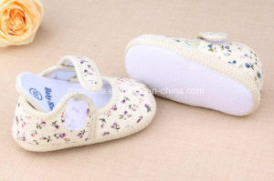 Baby Shoes Cotton Floral Infant Toddler Shoes for Girls pictures & photos