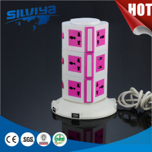 2.1mA USB Ports Charging Tabletop Socket pictures & photos