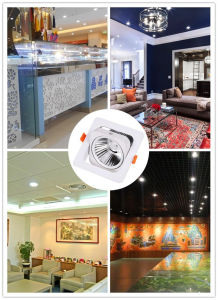 COB LED Spot Ceiling Down Lamp 15W Square Lights (CRI>85 90lm/w 3000k, 4000k, 5000k, AC85-265V) pictures & photos