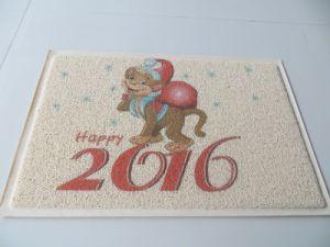 Festival Holiday PVC Coil Foam Carpet Mat Foot Step Clean Door Mat pictures & photos
