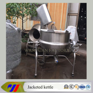 200L Steam Heating Jacketed Cooking Kettle with Frequency Conversion and Can Removable pictures & photos