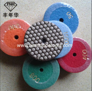 Diamond Resin Dry Flexible Polishing Pads for Marble Granite