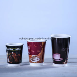 2017 Hot Coffee Disposable Double Wall Paper Cup pictures & photos