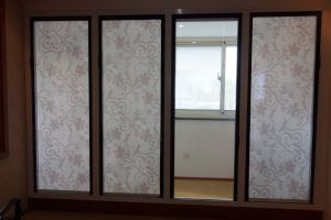 Magnetic Control Glazed Fabric Curtain Blinds pictures & photos