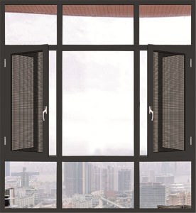 Made in China Aluminum Sliding Window Two Tracks pictures & photos