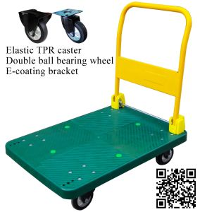 Dark Green Plastic Platform Hand Truck pictures & photos
