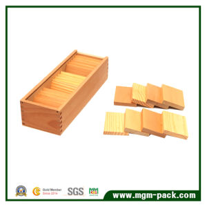 Educational Brown Cuboid Wooden Montessori Material pictures & photos