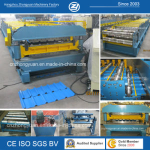 Two Profiles Double Layer Cold Roll Forming Machine with ISO pictures & photos