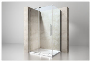 6mm/8mm/10mm Easy Cleaning Tempered Glass Hinge Shower Enclosure