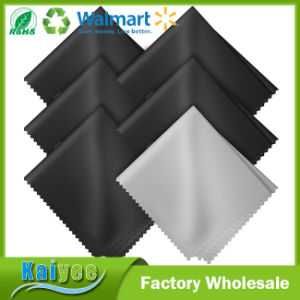 Black and Grey Microfiber Cleaning Cloths for All LCD Screens pictures & photos