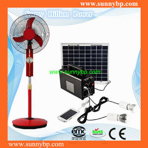 Emergency Stand 16′′ Solar Fan with Battery for Home Using pictures & photos