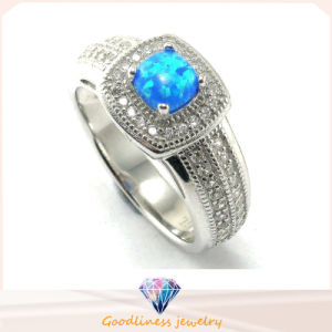 High Quality Fashion Jewelry 925 Sterling Silver Blue Main Stone Ring (R10212B) pictures & photos